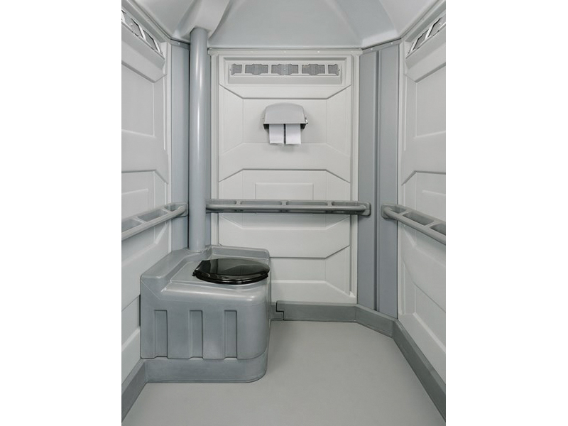 Wheel Chair Accessible Portable Toilet - Interior